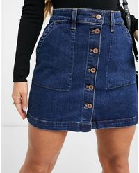 J.Crew Mini-jupe boutonnée devant en jean - Bleu