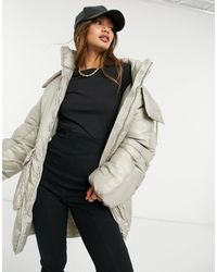 Weekday Martine Hooded Jacket With Draw Cord Waist - Natural