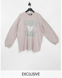 Reclaimed (vintage) Inspired Unisex Oversized Sweatshirt - Pink