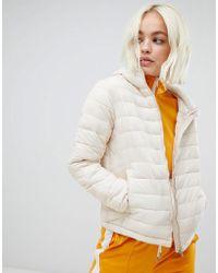 Pull&Bear - Basic Padded Jacket In Cream - Lyst