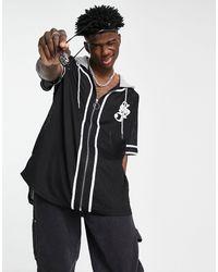 Sixth June Baseball Shirt With Hood - Black