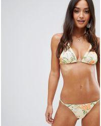 330d57e4106 Rhythm - Barbados Itsy Bikini Bottom In Tropical Print - Lyst