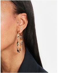 ALDO Qiren Twisted Hoop Earrings - Metallic
