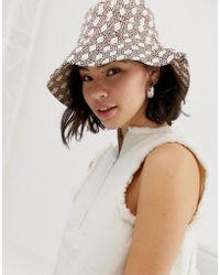 ASOS Monogram Bucket Hat - Multicolour