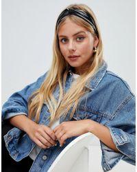 New Look Stripe Elasticated Headband - Black