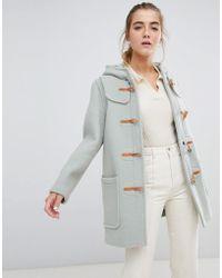 Gloverall Melissa Short Duffle Coat With Hood - Green