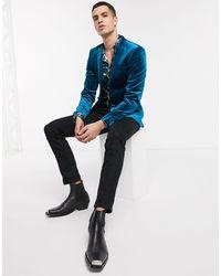 ASOS Super Skinny Blazer - Blue