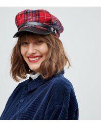 ALDO - Ulilaclya Red Plaid Baker Boy Hat - Lyst