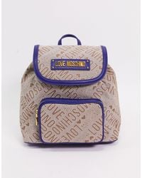 Love Moschino - Logo Jacquard Backpack - Lyst