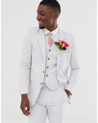 ASOS - Wedding Slim Suit Jacket In Light Grey - Lyst