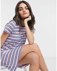 J.Crew Striped Knit Tshirt Dress - Blue