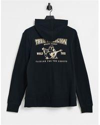 True Religion - Черный Худи С Золотистым Логотипом -черный Цвет - Lyst