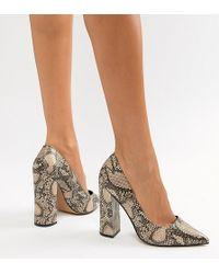 3a1302caa25 Dune Azara Nude Patent Court Shoe in Natural - Lyst