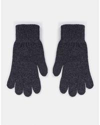 ASOS Handschoenen Met Touchscreen Vingertoppen Van Gerecycled Polyester - Grijs