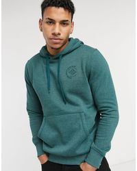Tom Tailor Hoodie With Chest Print - Green