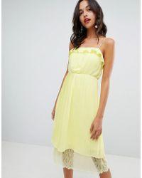 78afc408681e3 Glamorous Sleeveless Midi Dress With Flutter Sleeves In Polka Dot in ...