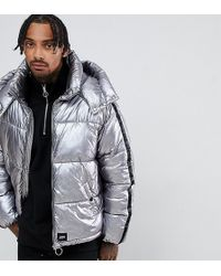 Sixth June - Puffer Jacket In Silver - Lyst