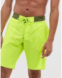 O'neill Sportswear Freak - Pantaloncini da surf gialli tinta unita - Giallo