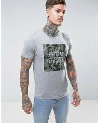 Firetrap - Camo Graphic T-shirt - Lyst