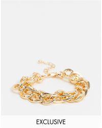 Vero Moda Exclusive Double Chunky Chain Bracelet - Metallic