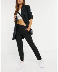 Vero Moda High Waisted Cigerette Trouser - Black
