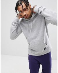 Sixth June - Hoodie In Grey Marl With Dropped Shoulder - Lyst