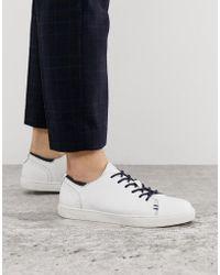 Goodwin Smith Белые Кожаные Кроссовки - Многоцветный