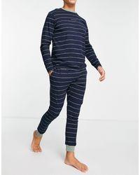 SELECTED – pyjama-set - Blau