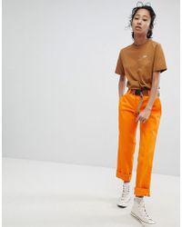 Dickies Pantalon chino droit style boyfriend - Orange