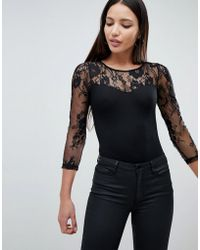 AX Paris - Body With Lace Sleeve - Lyst
