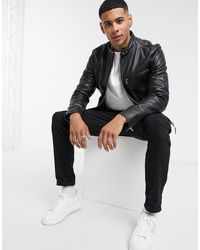Schott Nyc Lc940d Classic Racer Premium Leather Jacket - Black