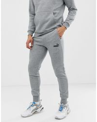 PUMA Musthaves - Skinny-fit joggingbroek - Grijs