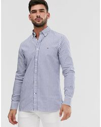 Tommy Hilfiger Slim Fit Stripe Shirt - Blue