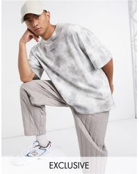 Collusion Oversized T-shirt With Logo Print - Gray