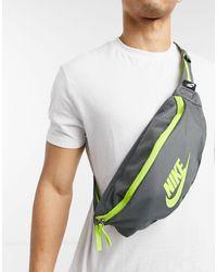 Nike Темно-серая Сумка-кошелек На Пояс Heritage-серый