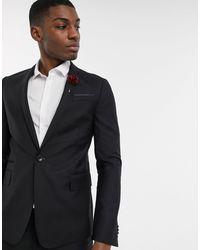 ASOS Skinny Suit Jacket In Black 100% Wool