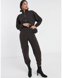 ASOS Tracksuit Sweat With Shawl Collar / jogger - Brown