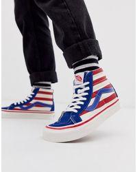 Vans Sk8 Anaheim Factory - Hoge Sneakers - Blauw
