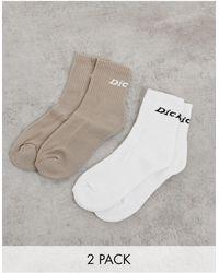 Dickies Carlyss - Confezione da 2 paia di calzini beige/bianco
