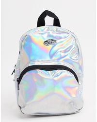 Vans – Got This – Schimmernder Mini-Backpack - Weiß