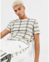 Criminal Damage - T-shirt In Beige Check - Lyst