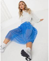 New Balance Rok Met Tule En legging Short - Blauw