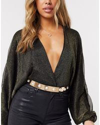 ASOS Gold Full Metal Waist Belt - Metallic