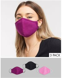 ASOS 3 Pack Face Coverings - Purple