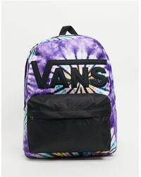 Vans Mochila violeta con efecto tie dye Old Skool III - Morado