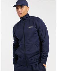 Jack & Jones Core Zip Through High Neck Jacket And Slim jogger Tracksuit - Blue