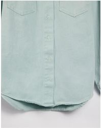 Missguided Oversized Denim Shirt - Blue