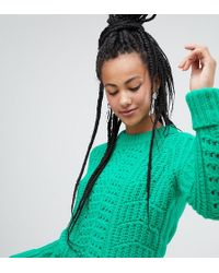 Esprit Chunky Textured Sweater In Green