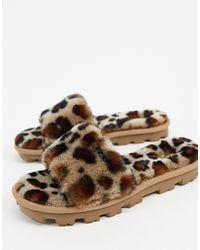UGG Cozette Leopard Chaussons pour - Marron
