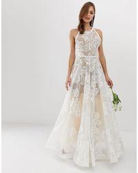 Bronx and Banco Esclusiva Bronx & Banco - Fiora - Vestito da sposa decorato - Bianco